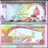 MALDIVES 20 RUFIYAA 2008 P 20 - Maldive