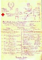 PROGRAMME ARTISTIQUE HOPITAL TEMPORAIRE SAINT ROCH LE HAVRE GUERRE DECEMBRE 1914 BLESSE POILU