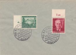 Peter Rosegger 1943 Krieglach Heimatdichter 31.7.1943 (855 & 856) - Briefe U. Dokumente