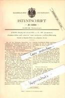 Original Patent - Joseph Francois Hugueny à Saint-Dié-des-Vosges , 1881 , Chambres Four !!! - Saint Die