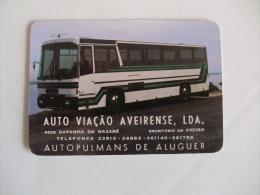 Autobus Bus Autocarro Auto Viação Aveirense, Lda  Portuguese Pocket Calendar 1986 - Calendriers