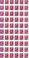 LITHUANIA - OVERPRINT 30 - 100 - FULL SHEET - 60 MINT STAMPS -  HORSEMAN  1991 -1992- 1993 YEARS - Lithuania