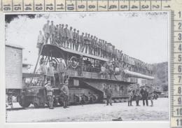 Militari Guerra 1915/1918  Genova Ansaldo Cannone Su Affusto Ferroviario Treni Ferrovia - Vieux Papiers