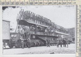 Militari Guerra 1915/1918  Genova Ansaldo Cannone Su Affusto Ferroviario Treni Ferrovia - Documentos Antiguos