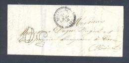 CANTAL 15 NEUVEGLISE LAC Tad Type 22 Du 31 Juillet 1856 Et Taxe 30 DT  TTB Ind13 - Marcophilie (Lettres)