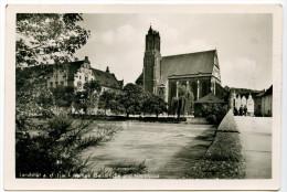 Landshut, Heilige Geistkirche Und Hauptpost, 1953. Kleinformat - Landshut