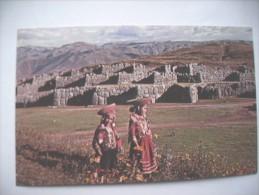 Peru Cuzco  Nice Ladies Sacsayhuaman - Peru