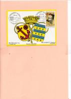 15200     Carte Avec Cachet Commémoratif - Marcophilie (Lettres)