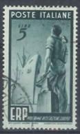 ITALIA REPUBBLICA - US 1949 (CATALOGO N.° 601) (2830) - 6. 1946-.. Repubblica