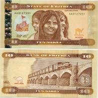 ERITREA       10 Nakfa       P-New       24.5.2012       UNC - Eritrea