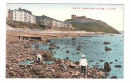 Marine Terrace & Castle Criccieth Wales Unused COLOURED PRINTED CARD CAERNARVONSHIRE - Caernarvonshire