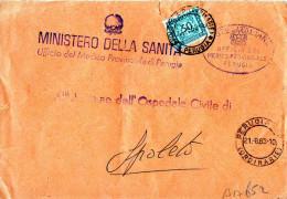 BUSTA POSTALE -MINISTERO DELLA SANITA´-UFFICIO MEDICO PROVINCIALE DI PERUGIA-SEGNATASSE  CENT. 30 - 1900-44 Vittorio Emanuele III