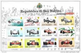 X SAN MARINO  BF58 FOGLIETTO 1998 50 ANNI FERRARI CARS FORMULA 1 NUOVO - Automobilismo
