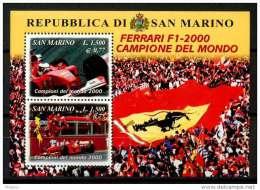 San Marino 2000 - FO61 SS - MNH - La Ferrari F1-2000 Campione Del Mondo NUOVO - Automobilismo