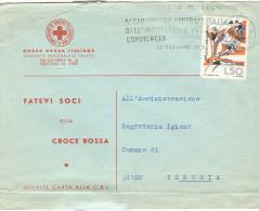 CROCE ROSSA ITALIANA, TRENTO, BUSTA VIAGGIATA 1971, FATEVI SOCI DELLA CROCE ROSSA............. - Organisaties