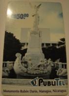 Nicaragua - NIC-PUB-07, PubliTel, Ruben Dario Monument, C$50 , Used