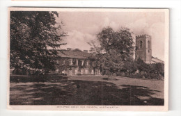 Abington Church & Abbey REAL PHOTO NORTHAMPTON E HALL  2 BLACK LION HILL NORTHAMPTON - Northamptonshire