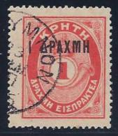 Crete, Scott # J9 Used Postage Due, Surcharged, 1901 - Crete