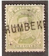 011608 Sc 111 5c ALBERT I - RUMBEKE -  [POST WW I FORTUNE - LINE NAME CANCEL] - Postmark Collection