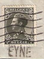 011613  Sc 262 - 70c LEOPOLD III - EYNE -  LINE NAME CANCEL - Postmark Collection