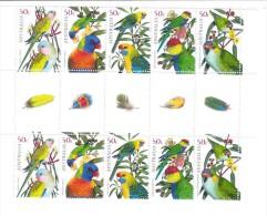 Australia 2005 Parrots Gutter  Strip MNH - 2000-09 Elizabeth II