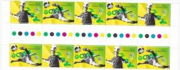 Australia 2006 Soccer Gutter Strip MNH - 2000-09 Elizabeth II