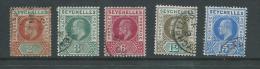 Seychelles 1903 King Edward VII 5 Values To 15c FU - Seychelles (...-1976)