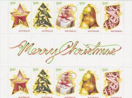 Australia 2009 Merry Christmas Gutter Strip MNH - 2000-09 Elizabeth II