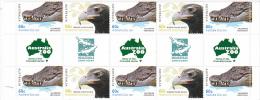 2012 Australian Zoos ,Eagle & Croc  Gutter Strip MNH - 2010-... Elizabeth II