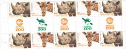 Australia 2012 Australian Zoos ,Giraffe & Rhino Gutter Strip MNH - Mint Stamps
