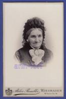 0148 / CAB - Atelier Rumbler, Hoffotograf, Wiesbaden - Alte Frau Woman Femme - Cabinet Photo - Groß Cdv - Anonyme Personen