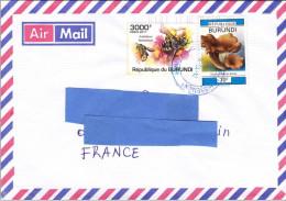 Z2] Enveloppe Cover Burundi Abeille Bee Anthidium Florentinum Insecte Insect - Abeilles