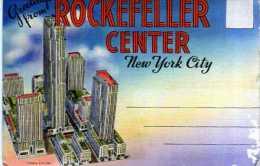 Carnet Depliant De 9 Vues Recto Verso ROCKEFELLER CENTER New York City - Rochester