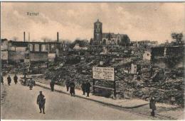 CPA - RETHEL Pendant L'occupation - Panneau Signy Charleville Ecly Amagne écrite En Allemand - Rethel