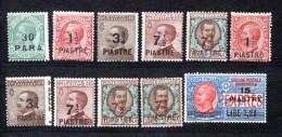 Italien/Levante, Kleines Restlot Mit 11 Briefmarken, Pf/m.F. (15639E) - 11. Auslandsämter
