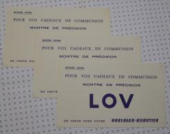 3 Buvards Montres De Précision LOV - Buvards, Protège-cahiers Illustrés