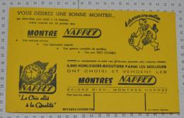 Montres Nappey - Buvards, Protège-cahiers Illustrés