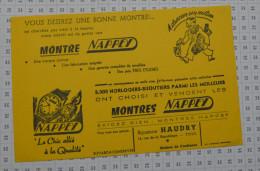 Montres Nappey, Bijouterie Haudry à Toul - Buvards, Protège-cahiers Illustrés