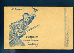 Correspondance Des Armées De La République Carte En Franchise 2e Emprunt Défense Nationale Pour Troupes En Opération - Postmark Collection (Covers)