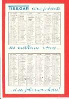 Calendrier Mouchoir TISSGAR Arras Remy Hanicotte Sauvage  Deux Scanns - Petit Format : 1961-70