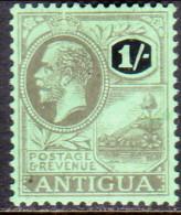 Antigua 1921 SG #56 1sh MH OG Wmk Multiple Crown CA - Antigua & Barbuda (...-1981)