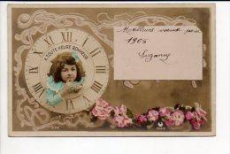 Nouvel An  - Enfant,fleurs -  Bonne Année - Nouvel An