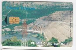 Phonecard , Africa, Ghana , 2003 , 150 UNITS , Akosombo Hydro Electric Dam ,  Used - Ghana