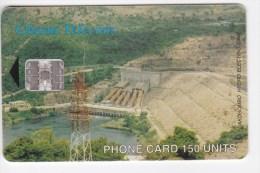 Phonecard , Africa, Ghana , 2002 , 150 UNITS , Akosombo Hydro Electric Dam ,  Used - Ghana