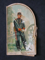 Ref1992 Au Bon Marché Carte à Système - Publicité Magasin Rue Du Bac Paris - Assaut De La Cavalerie - Cartoline Con Meccanismi