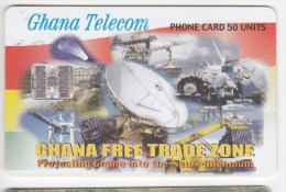 Phonecard , Africa, Ghana , 2002 , 50 UNITS ,  GHANA FREE TRADE ZONE ,  Used - Ghana