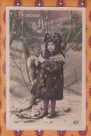 1 Cpa Fantaisie Enfant - Bonne Annee - Jak 2121 - Enfants
