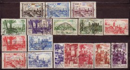 MAROC - 1947 - YT N° 247 + 251 / 252 + 253A / 258 + 260 / 261 +262A + 264 / 265A - Oblitérés - 17 Valeurs - Gebruikt