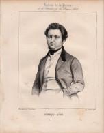 1839 Lithographie - Portrait De Jérôme-Adolphe BLANQUI De Nice économiste - FRANCO DE PORT - Lithographies