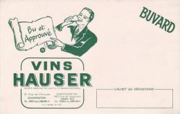 Buvard /Vin/ HAUSER/ Bu Et Approuvé / CHARENTON/Vers 1950    BUV194 - Papel Secante